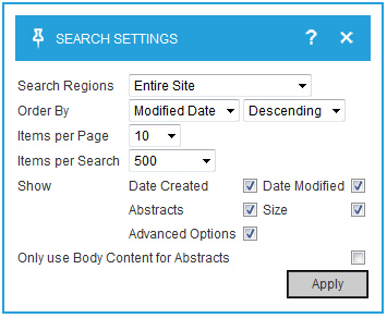 CMS search feature